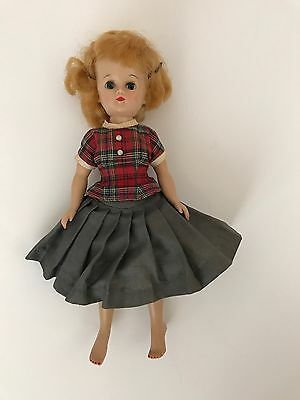 Vintage Vogue 1950s Jill Doll in Original Unique Outfit 1957 Red Head