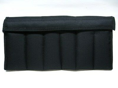 CARRY ALL Black 12 Knife Storage Pack Protector FLEECE Lined CASE Pouch! AC111