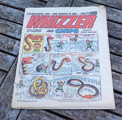 VINTAGE WHIZZER AND CHIPS COMIC 23rd January 1971
