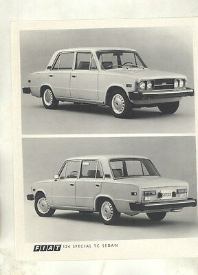 1974 Fiat 124 Special TC Sedan ORIGINAL Factory Photograph ww5917