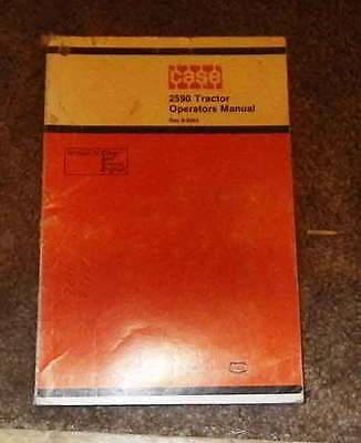 Vintage Case 2590 tractor  Operation & maint manual. 1978