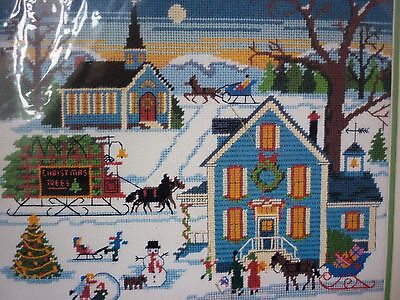 "New Dimensions ""new England Christmas"" Needlepoint Kit"