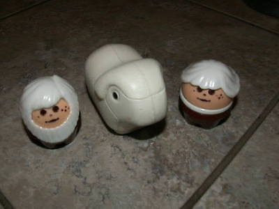Little Tikes Noah and his wife and a sheep Ark vintage toddle people