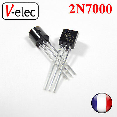 3006# 2N7000 N-Channel MOSFET TO-92 Transistor unipolaire