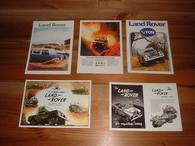 Set Of 5 Land Rover Postcards    1
