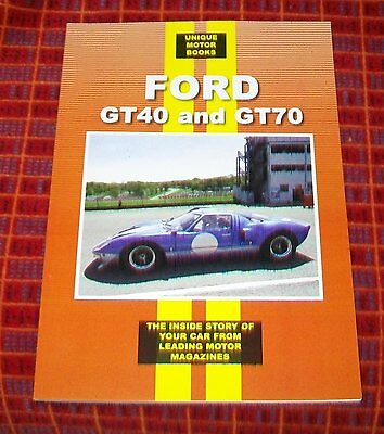 FORD GT40 and GT70 ROAD TEST & MAGAZINE ARTICLE REPRINT BOOK RACE SUCCESSES