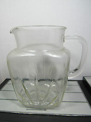 Vintage Glass Water Jug Pitcher 7 Inches Tall