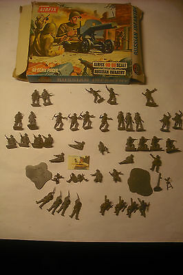 soldatini Toy Soldiers Airfix Russian Infantry scala H0-00 Blue Box ref. S17-89