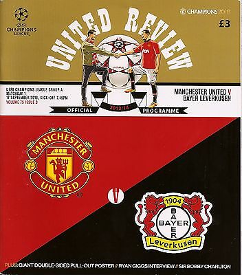 MANCHESTER UNITED v BAYER LEVERKUSEN Champions League 2013/14 MINT