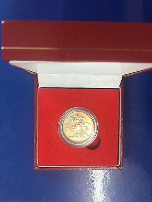 2017 FULL GOLD SOVEREIGN with BI-CENTENIAL MARK in PRESENTATION BOX