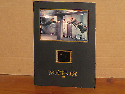 The Matrix Starring Keanu Reeves Senitype Film Cell & Photo, Numbered
