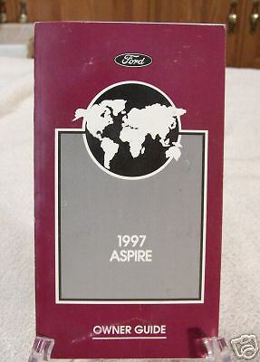 **LOOK** 1997 Ford Aspire Owners Manual 97