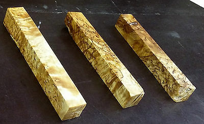 stabilized spalted karelian birch wood pen turning blanks curly masur