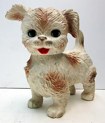 Vintage The Edward Mobley Co. Squeaky Dog with Moveable Eyes & Rotating Head