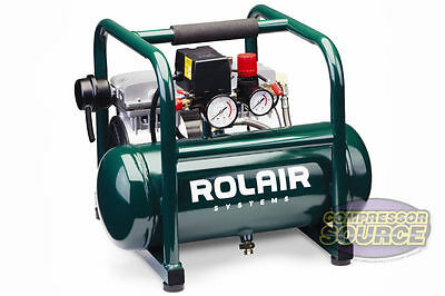 Hand Carry Portable 1HP Air Compressor Rolair JC10 Ultra Quiet 115 Volt 125PSI