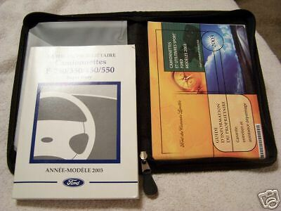 *FRENCH* 2003 Ford F-Series Super Duty Owners Manual