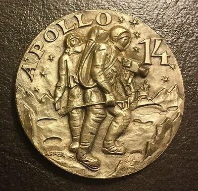 Apollo 14 Shepard Roosa Mitchell Numbered 197 Coin Medal NASA Space Moon Affer