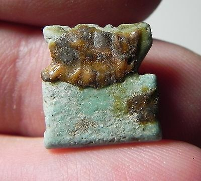 Zurqieh -Af1452- Ancient Egypt , Beautiful Faience Amulet. 600 - 300 B.c