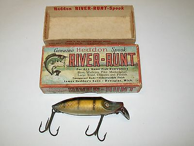 Vintage Heddon 9400 M River Runt Spook Floater Lure w/ Box Fishing - Used