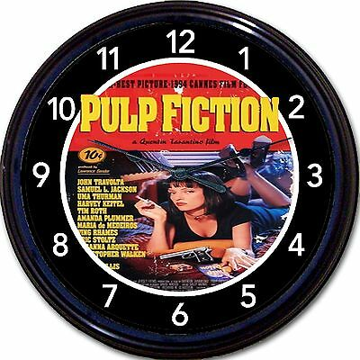 Pulp Fiction Tarantino Travolta Movie Wall Clock Cult Classic Crime Drama NEW