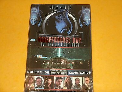 Vintage ID4 'INDEPENDENCE DAY' Sealed Box Of Topps Widevision Trading Cards 1996