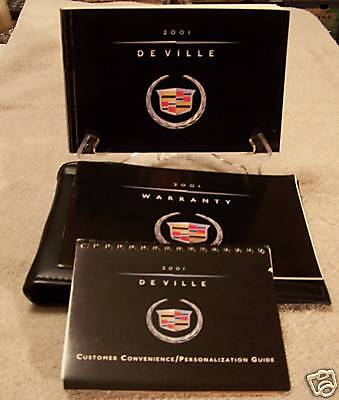 *NICE* 2001 Cadillac Deville Owners Manual Set 01