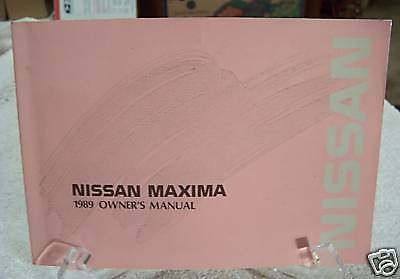 **LOOK** 1989 Nissan Maxima Owners Manual 89
