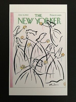 POSTCARD FROM THE NEW YORKER - June 16, 1962 Cover Postcard (Wedding) NEW