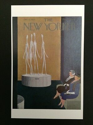 POSTCARD FROM THE NEW YORKER - January 15, 1955 Cover Postcard (NEW)