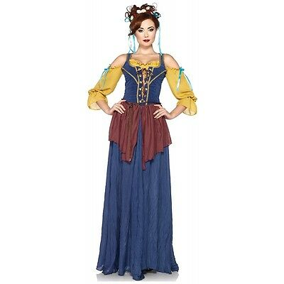 Tavern Wench Costume Adult Renaissance Peasant Girl Halloween Fancy Dress