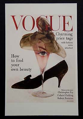 POSTCARDS FROM VOGUE - October 15, 1957 - Cover Postcard - NEW
