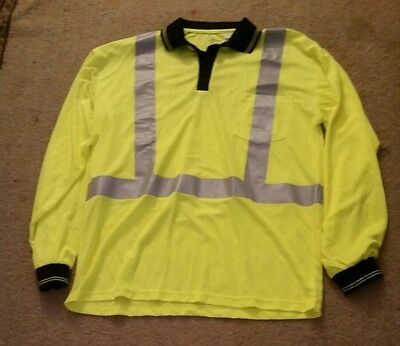 CSX TRAIN RAILROAD PULLOVER YELLOW REFLECTIVE SAFETY JACKET size large MINT COND