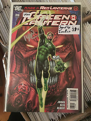 GREEN LANTERN #36 VF/NM 1st Print SIGNED by IVAN REIS Rage of the Red Lanterns