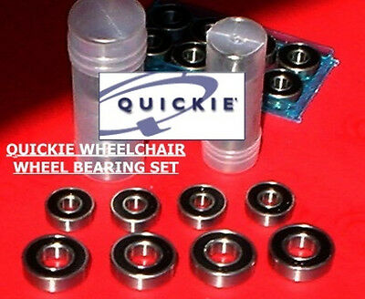 Quickie Wheelchair  Wheel Bearings=Full 8 Piece Set=Genuine Factory Replacements
