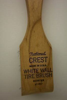 Vintage National Crest White Wall Tire Brush--Wire--Made In U.s.a.