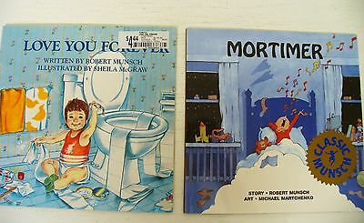 Lot 2 Robert Munsch Mortimer/Love You Forever kids picture books