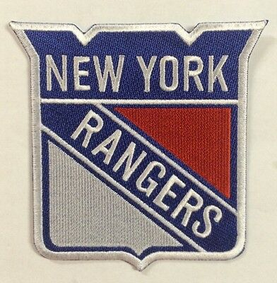 """New York Rangers NHL Hockey Logo / Crest 4""""x 4.5"""" Inch Iron On / Sew On Patches"""