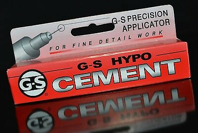 G-S Hypo Cement Glue 9ml Jewellery and Craft Adhesive Dries Clear Precision