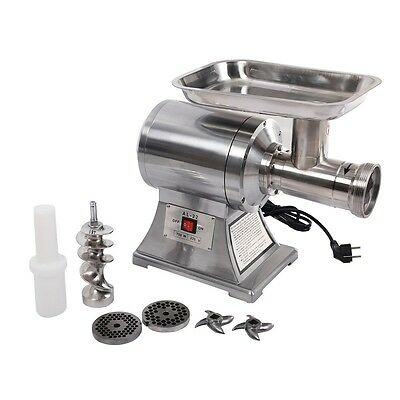 1100W Commercial #22 Industrial Electric Meat Grinder Food Processor,1HP, Silver