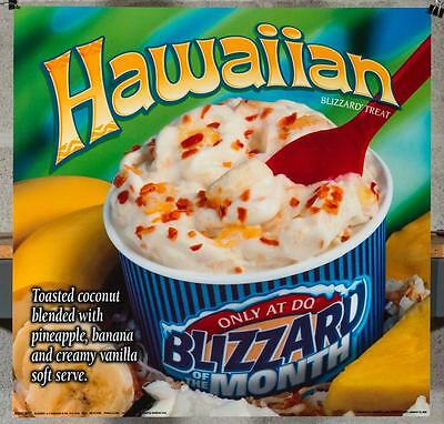 Dairy Queen Promotional Poster For Backlit Menu Sign Hawaiian Blizzard Treat dq2