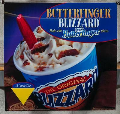 Dairy Queen Promotional Poster For Backlit Menu Sign Butterfinger Blizzard dq2