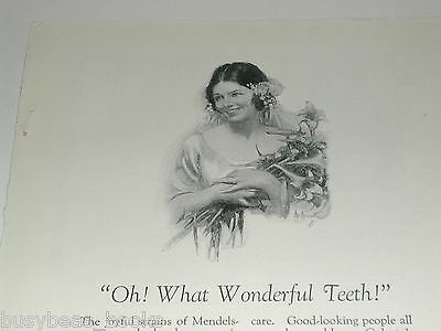 1924 Colgate Toothpaste advertisement, art by Neysa McMein
