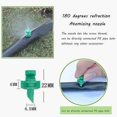 100x 180 Degrees Nozzles for Cloning Machine Hydroponic Garden Irrigation Spray