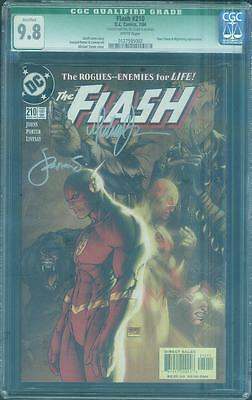 Flash 210 CGC 9.8 Michael Turner Steigerwald 2 Signed Top 1 Reverse Rogues Cover