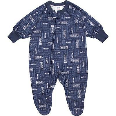 Seattle Seahawks Baby Infant Gerber Pajamas Coverall (FREE SHIPPING) 6-12 months