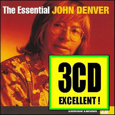 John Denver (3 Cd) The Essential 3.0 Limited Edition ~ Greatest Hits Best *new*