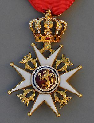 NORWAY: ORDER OF St. OLAF, KNIGHT BADGE GOLD