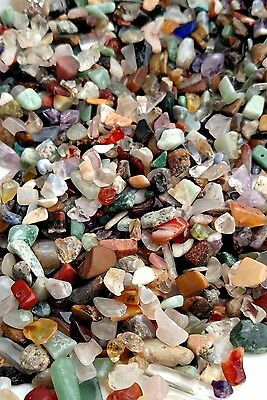 •Gemstone Mix, 200gms 3600pcs, Chip & Nugget Beads Undrilled Jewelry supply Lot•