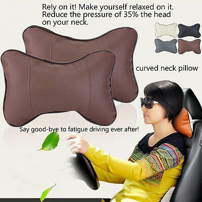 2 PCS Memory Foam Travel Car Seat Head Neck Rest Cushion Pad HeadRest Pillow Hot
