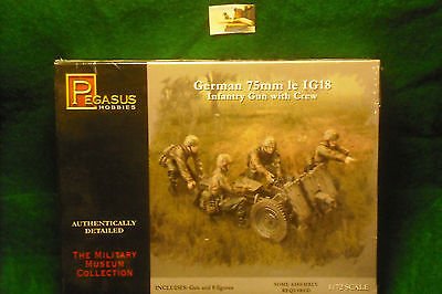 Soldatini Toy Soldiers Pegasus Postaz. Cannone 75mm Tedesco Ref. 7510 Scala 1:72